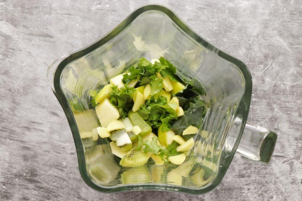 Apple Kiwi Superpower Green Smoothie recipe - step 1