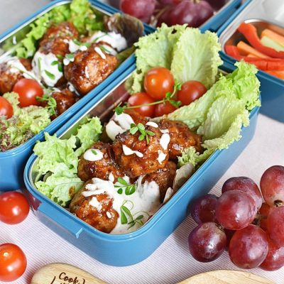 Buffalo Chicken Meatballs Bento Box Recipes–Homemade Buffalo Chicken Meatballs Bento Box–Easy Buffalo Chicken Meatballs Bento Box