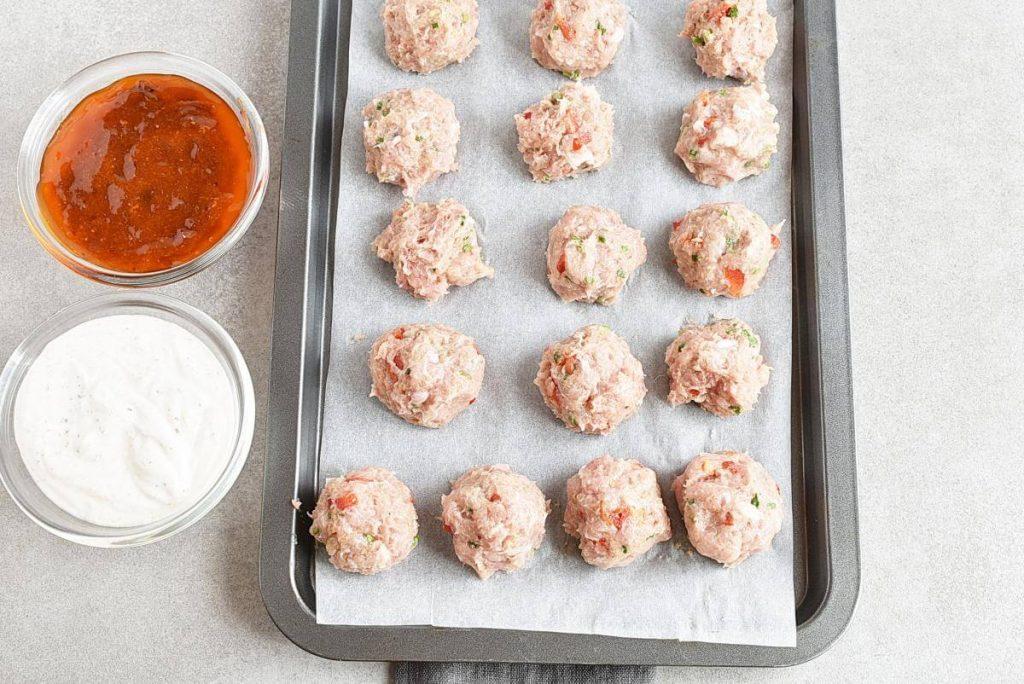 Buffalo Chicken Meatballs Bento Box recipe - step 3
