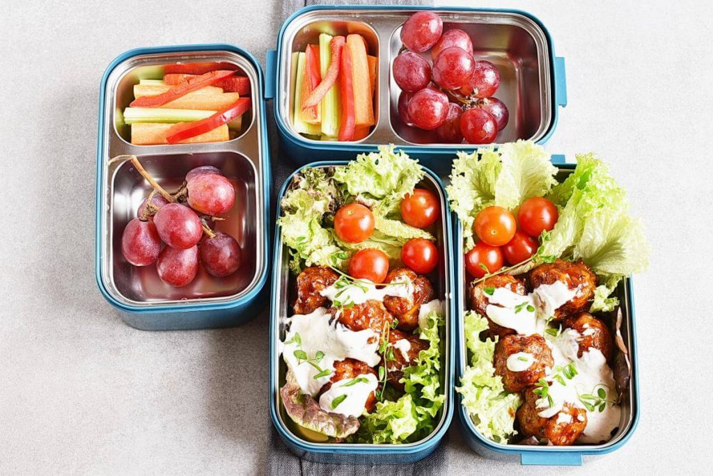 How to serve Buffalo Chicken Meatballs Bento Box