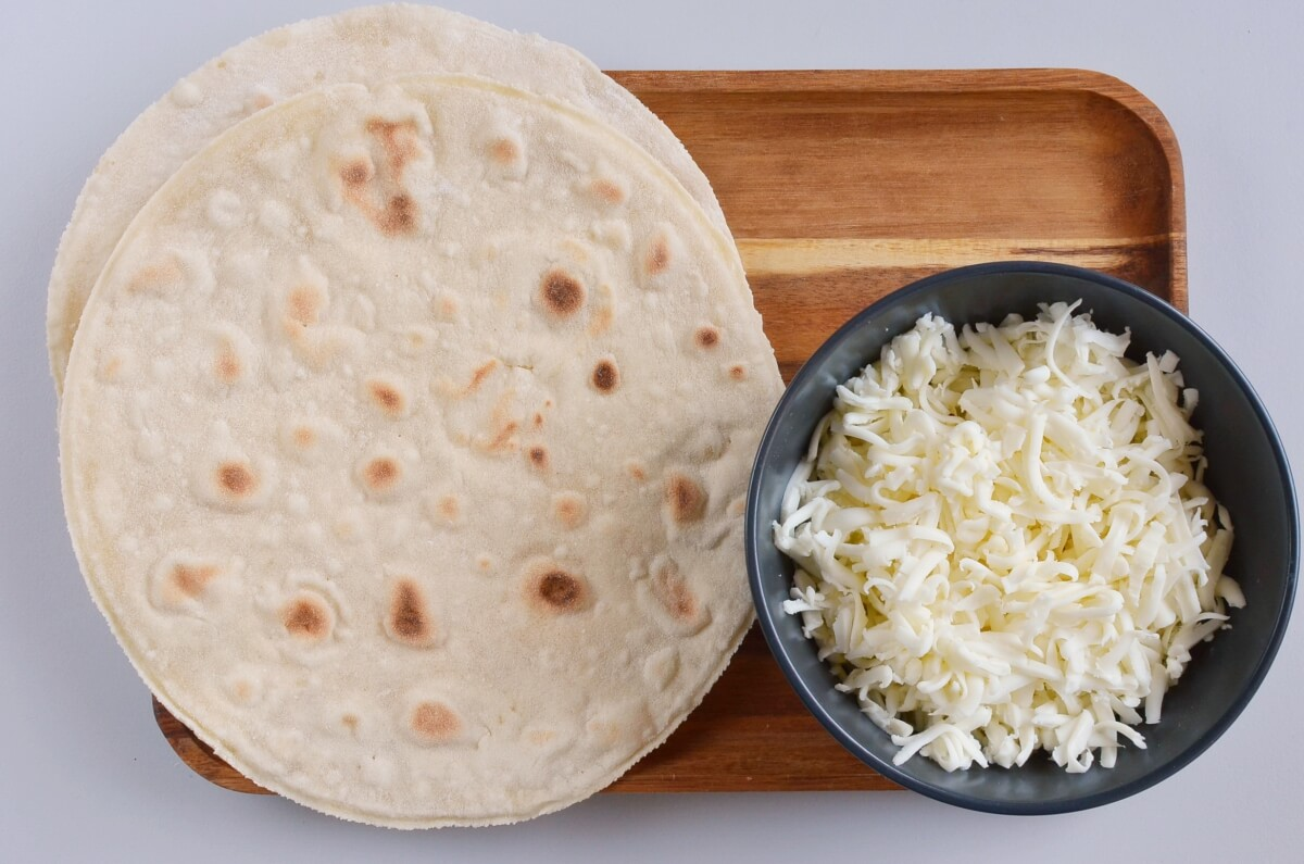 Ingridiens for Cheese Quesadillas