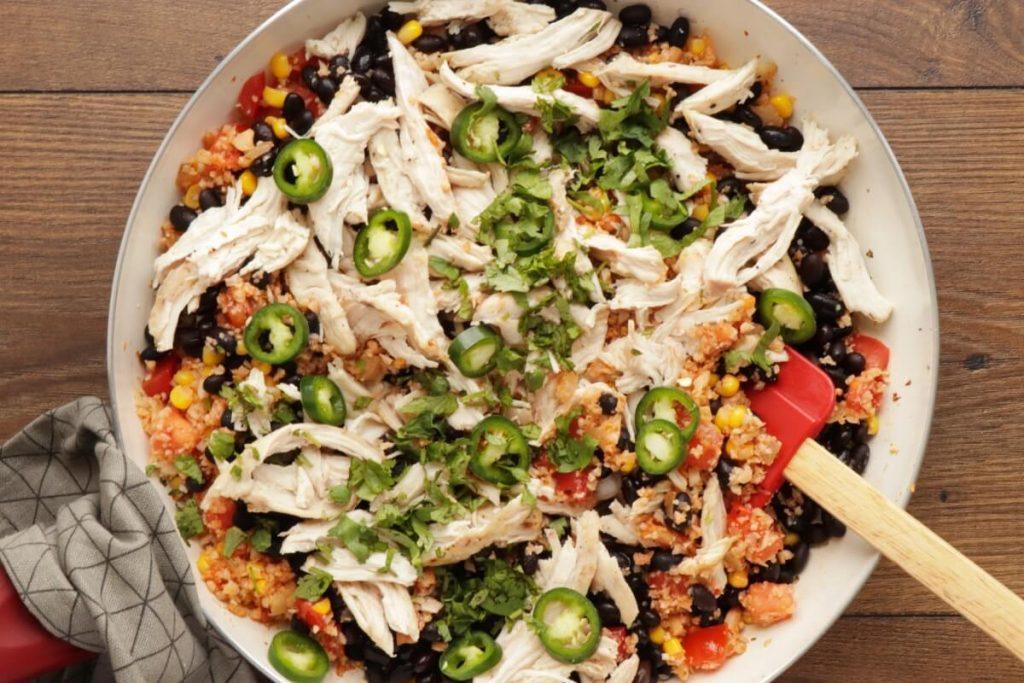 Cheesy Chicken & Black Bean Cauli Rice recipe - step 5