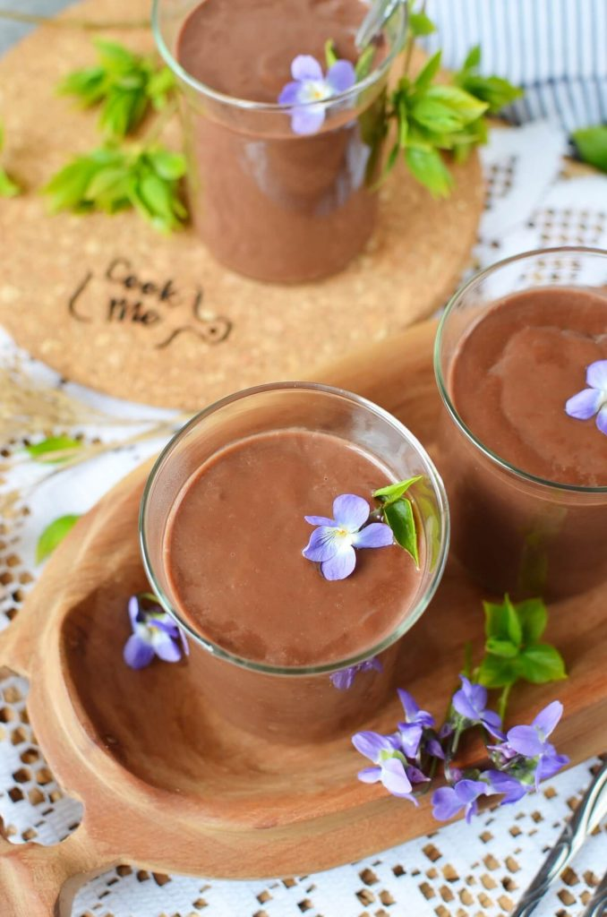 Eggless Chocolate Cornstarch Pudding