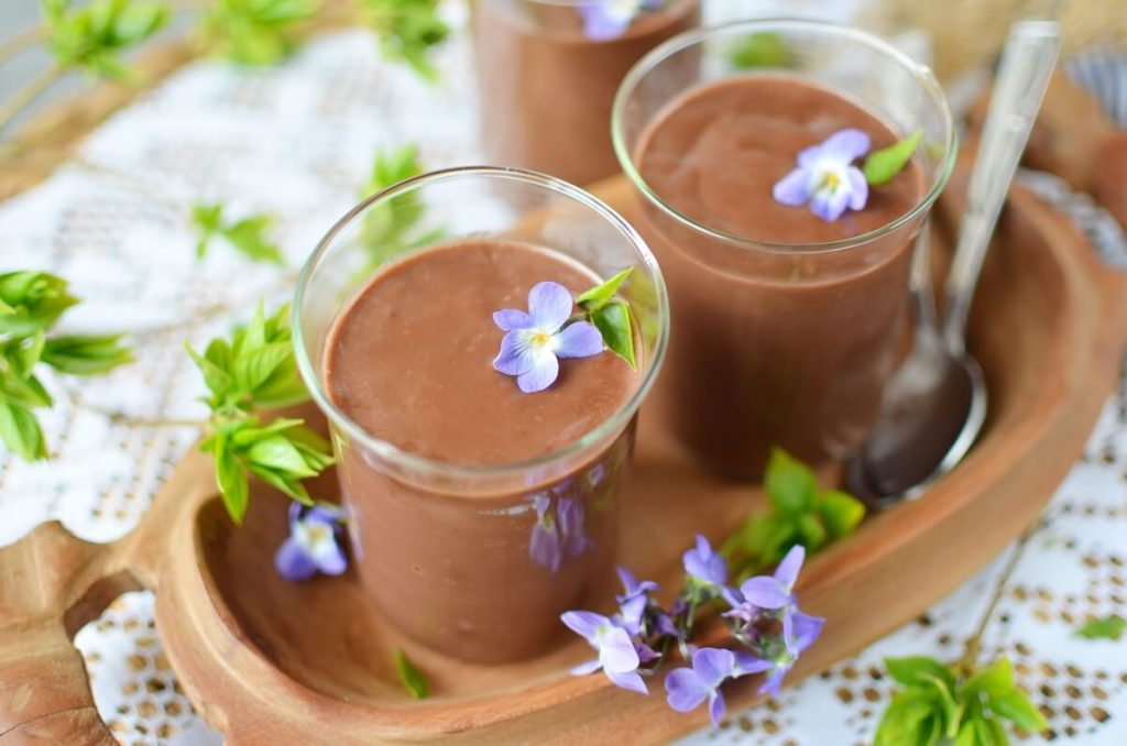 How to serve Eggless Chocolate Cornstarch Pudding