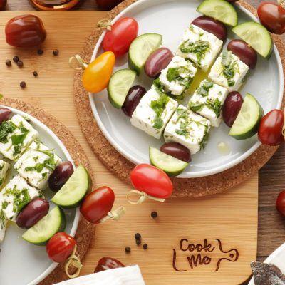 Greek Salad Skewers Recipe-Salad on a Stick-Easy Skewer Recipe