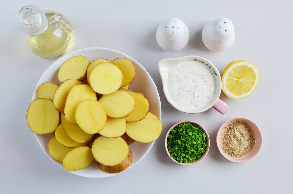 Ingridiens for Grilled Ranch Potatoes