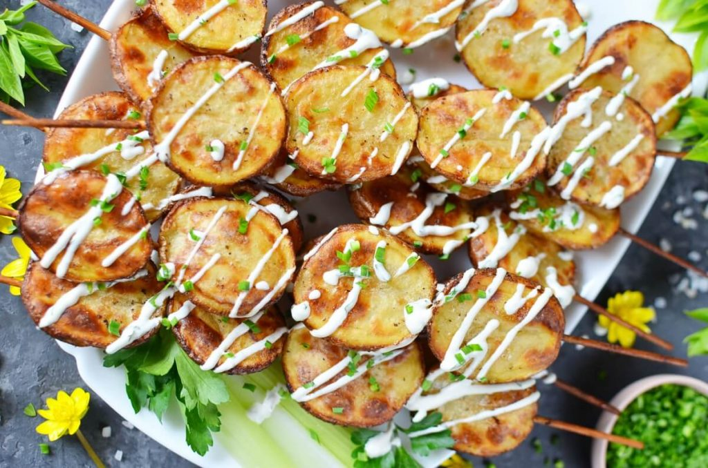 How to serve Grilled Ranch Potatoes