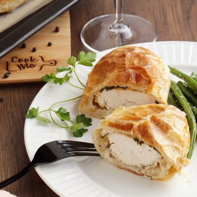 Herbed Chicken in Pastry Recipe- Easy Chicken in Pastry-Chicken Wellington