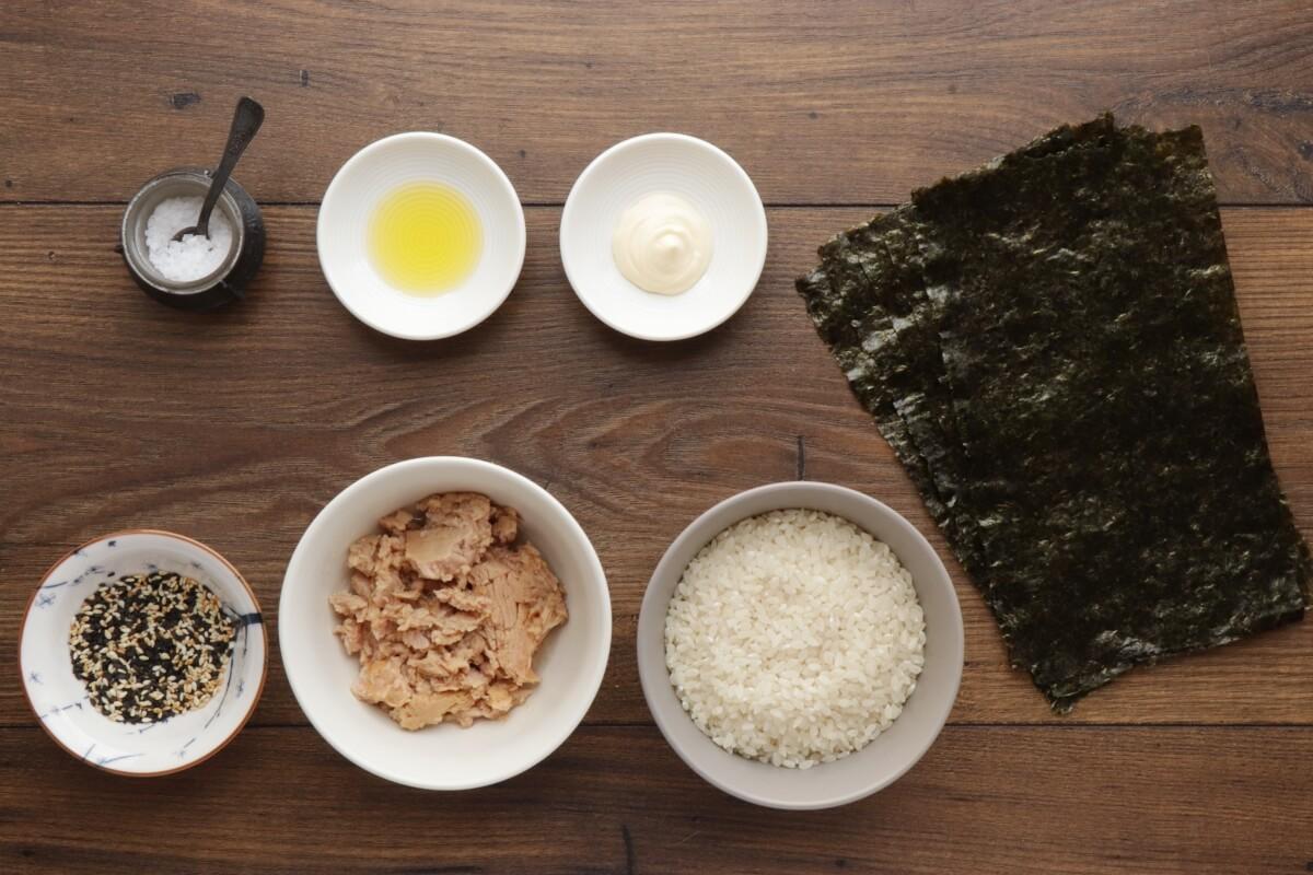 Ingridiens for Korean Tuna Mayo Rice Balls