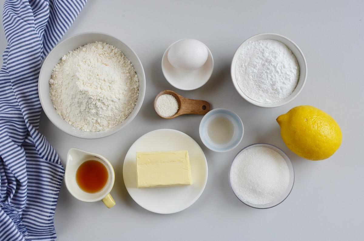 Ingridiens for Lemon Sugar Cookies
