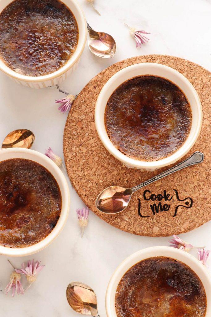 Low-Carb Chocolate Truffle Crème Brûlée