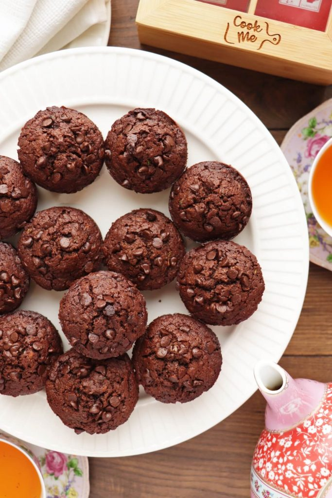 Low-Carb Chocolate Zucchini Muffins