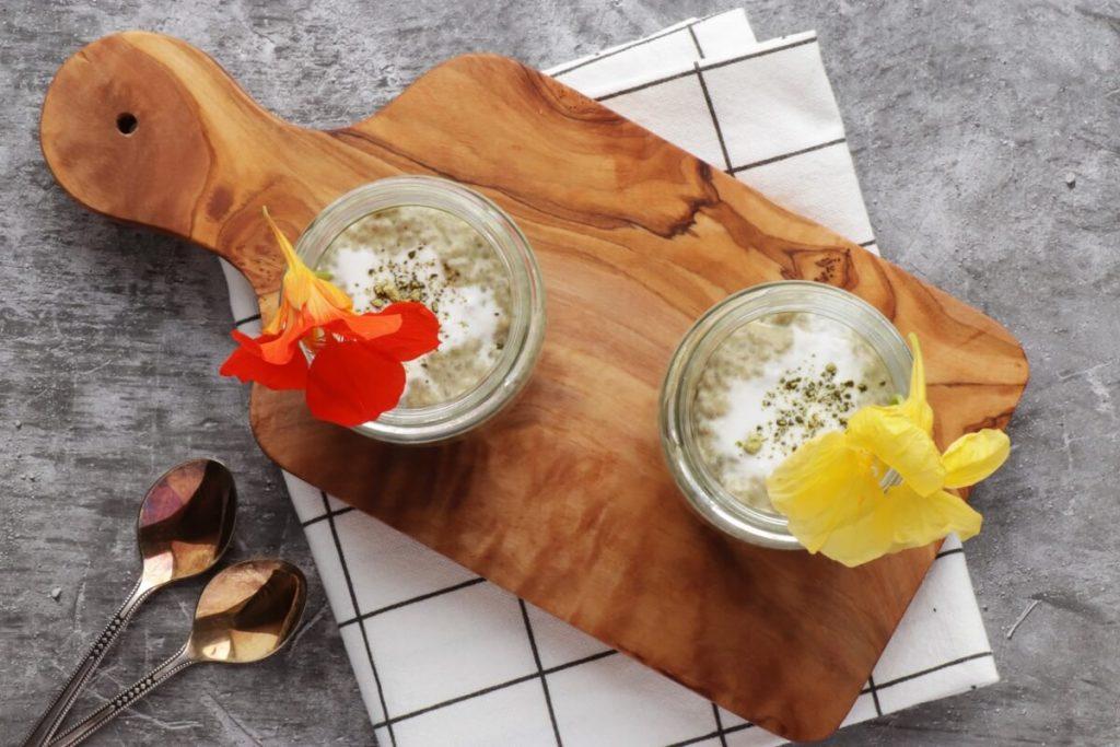 How to serve Matcha Latte Chia Pudding