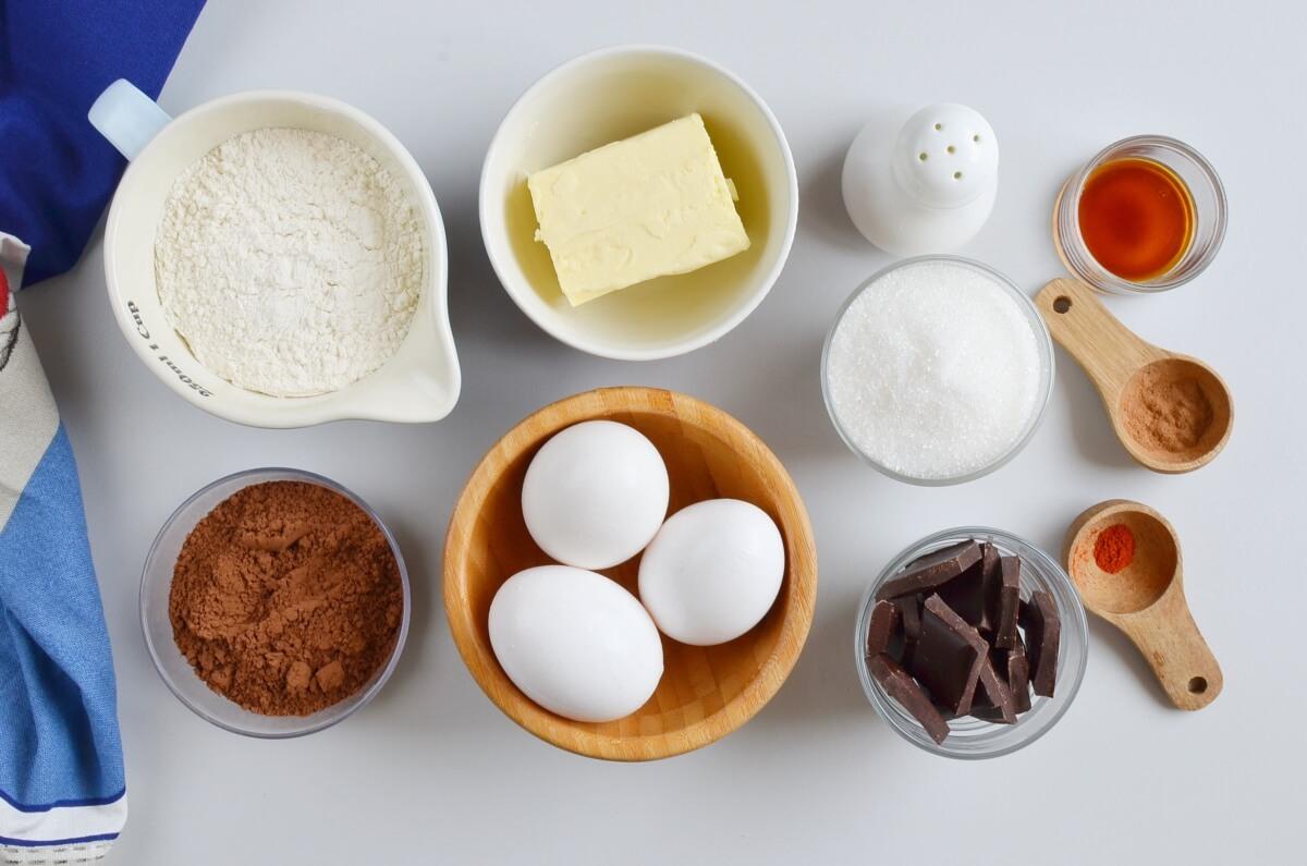Ingridiens for Mexican Brownies