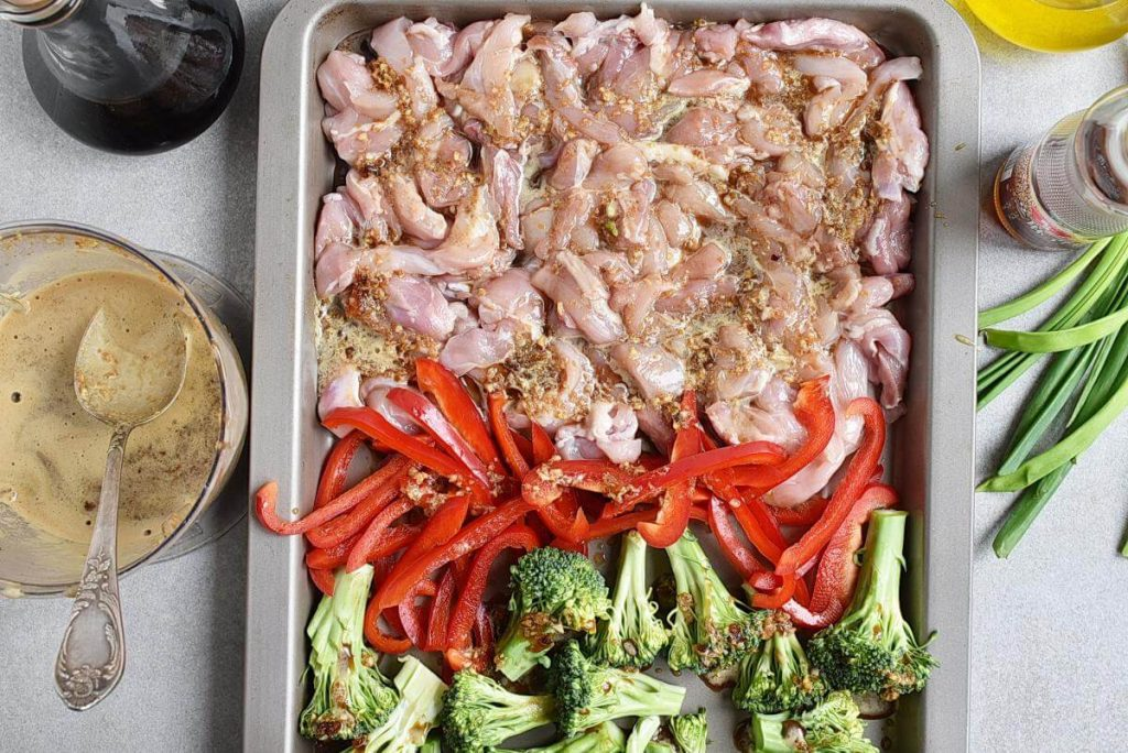 Sheet Pan Garlic Ginger Chicken & Broccoli recipe - step 4
