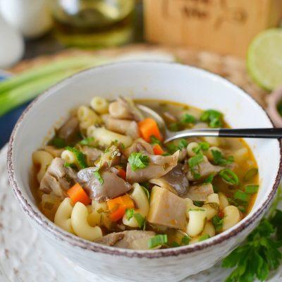 Vegan Oyster Mushroom Soup Recipe-How To Make Vegan Oyster Mushroom Soup-Delicious Vegan Oyster Mushroom Soup