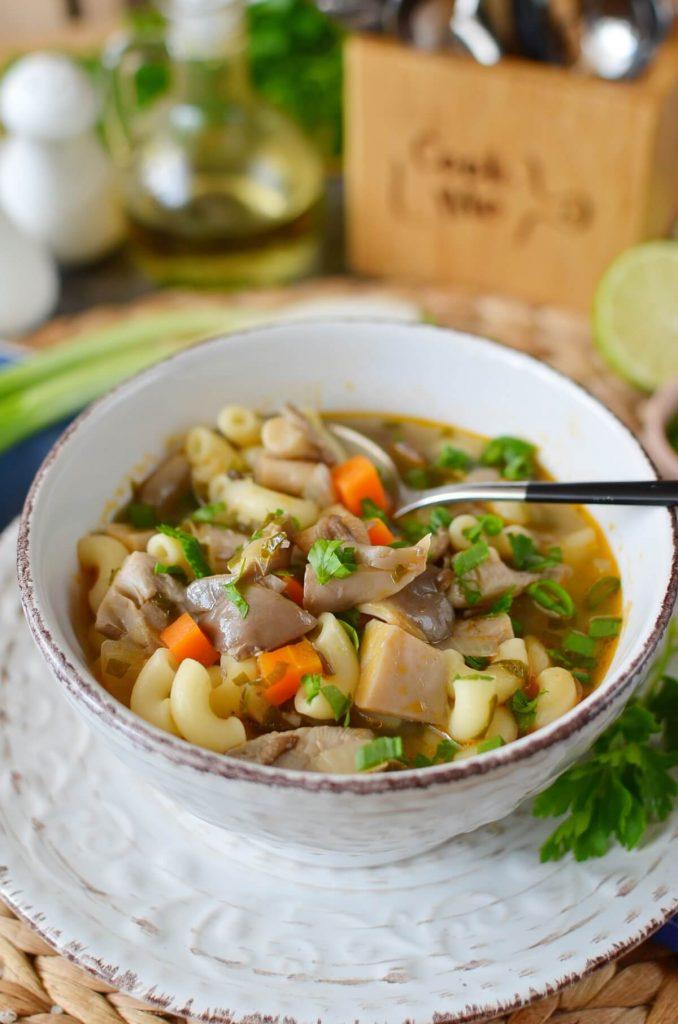 Vegan Oyster Mushroom Soup
