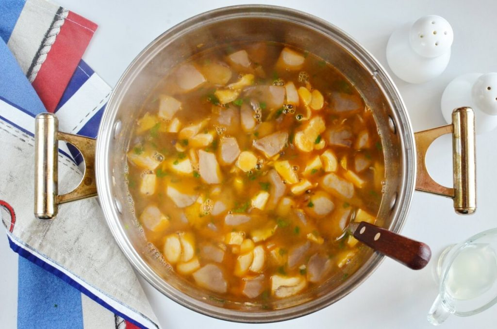 Vegan Oyster Mushroom Soup recipe - step 4