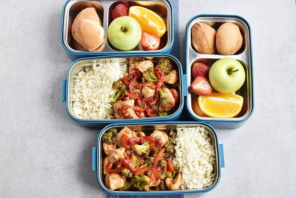 How to serve Asian Chicken and Veggies Lunch Box