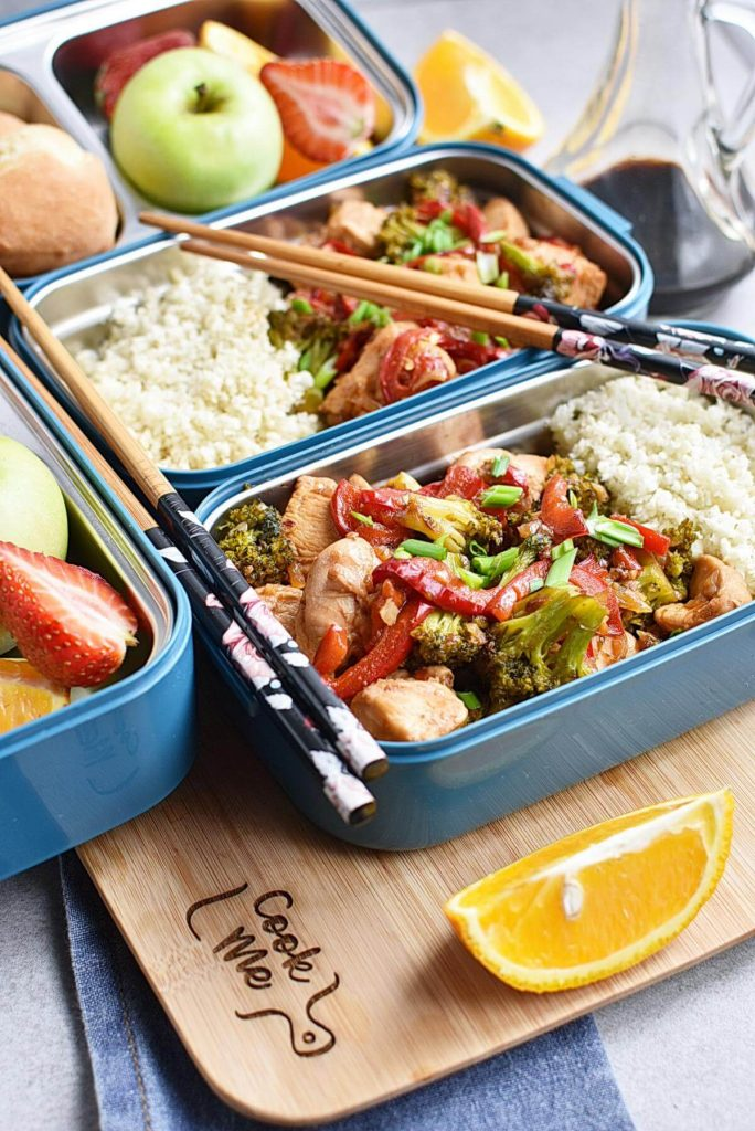 Asian Chicken and Veggies Lunch Box