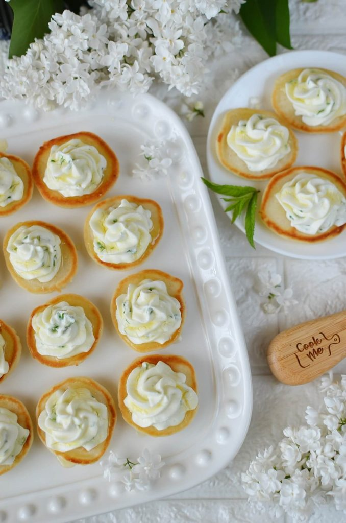 Blinis with Whipped Goat's Cheese and Honey