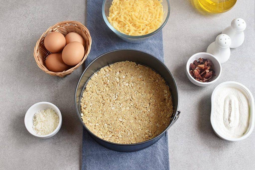 Cheddar-Veggie Appetizer Torte recipe - step 1