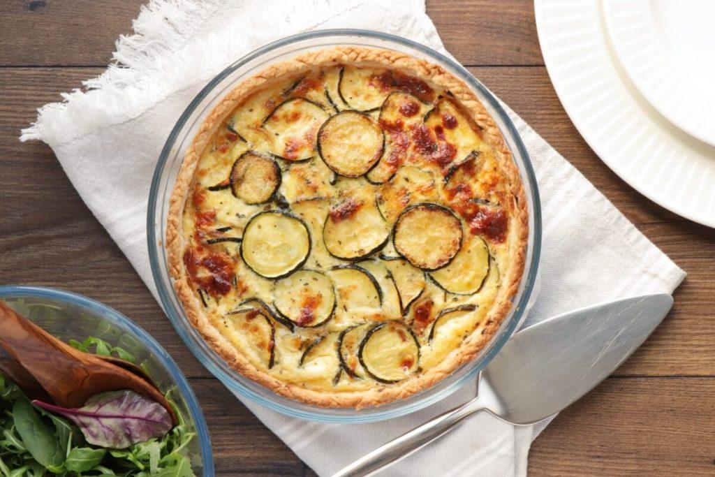 How to serve Cheesy Zucchini Quiche