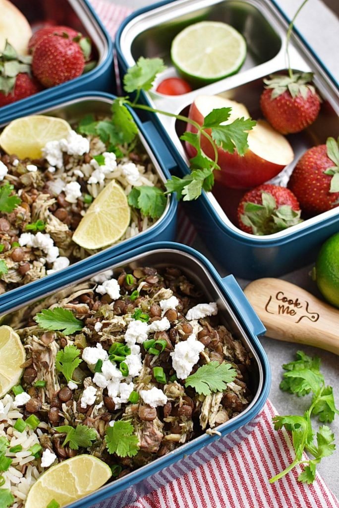 Cilantro Lime Chicken and Lentil Rice Bowls