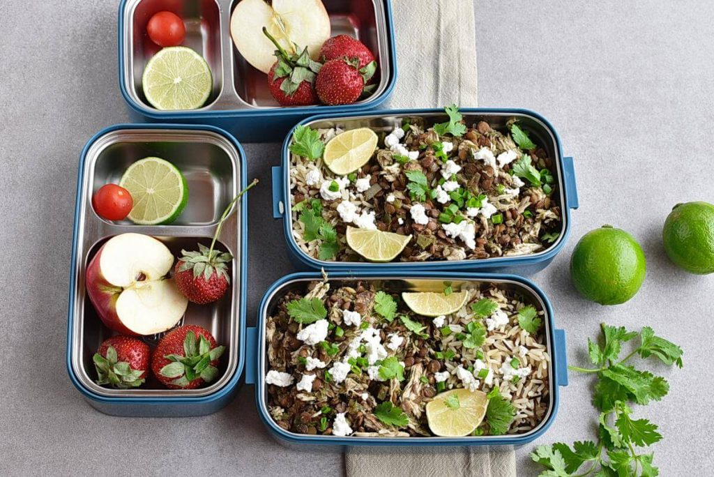 How to serve Cilantro Lime Chicken and Lentil Rice Bowls