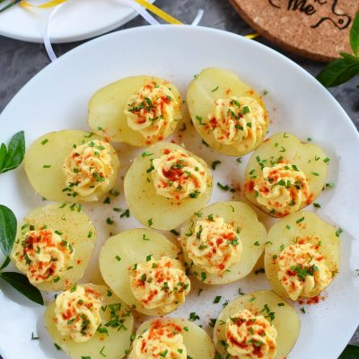 Deviled Potatoes Recipe-How To Make Deviled Potatoes-Delicious Deviled Potatoes