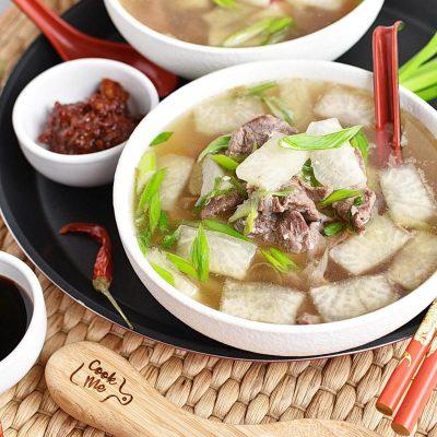 Korean Radish Soup - Muguk Recipes–Homemade Korean Radish Soup - Muguk–Easy Korean Radish Soup - Muguk