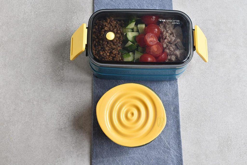 Lentil Greek Salad with Dill Sauce recipe - step 4
