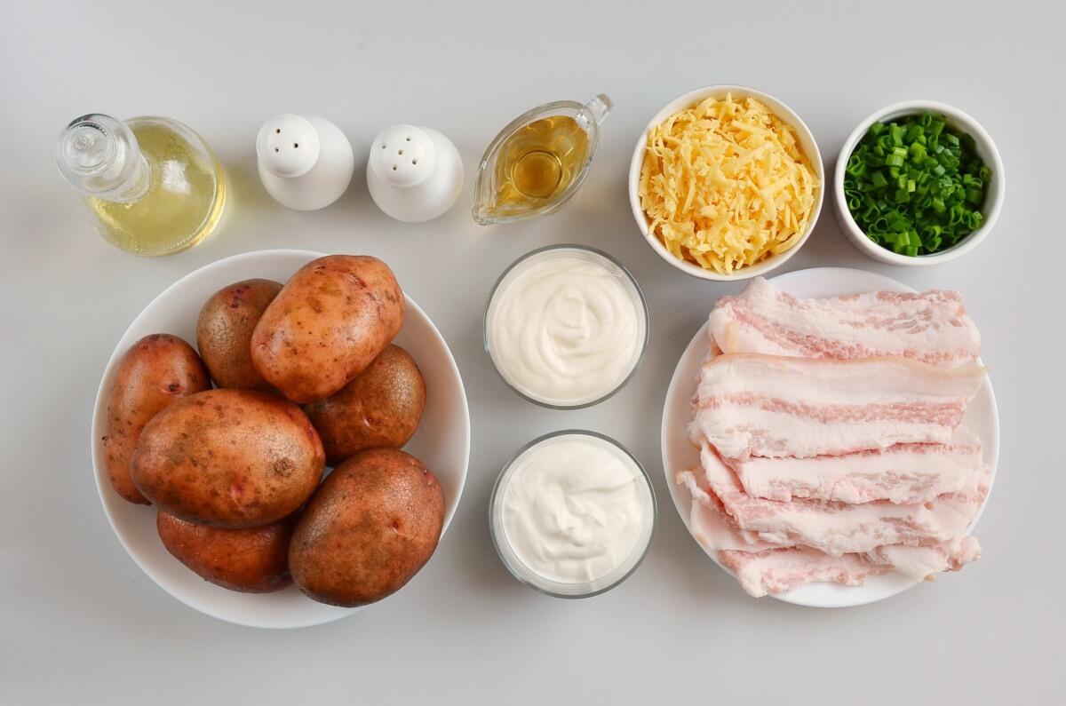 Ingridiens for Loaded Baked Potato Salad