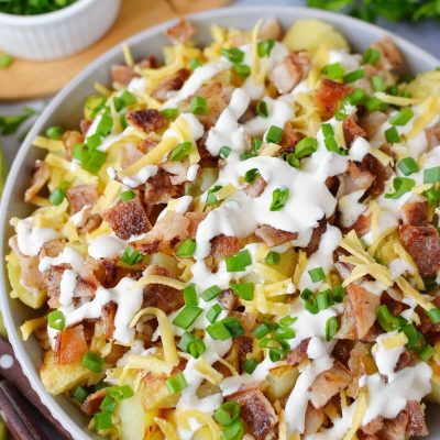 Loaded Baked Potato Salad Recipe-How To Make Loaded Baked Potato Salad-Delicious Loaded Baked Potato Salad