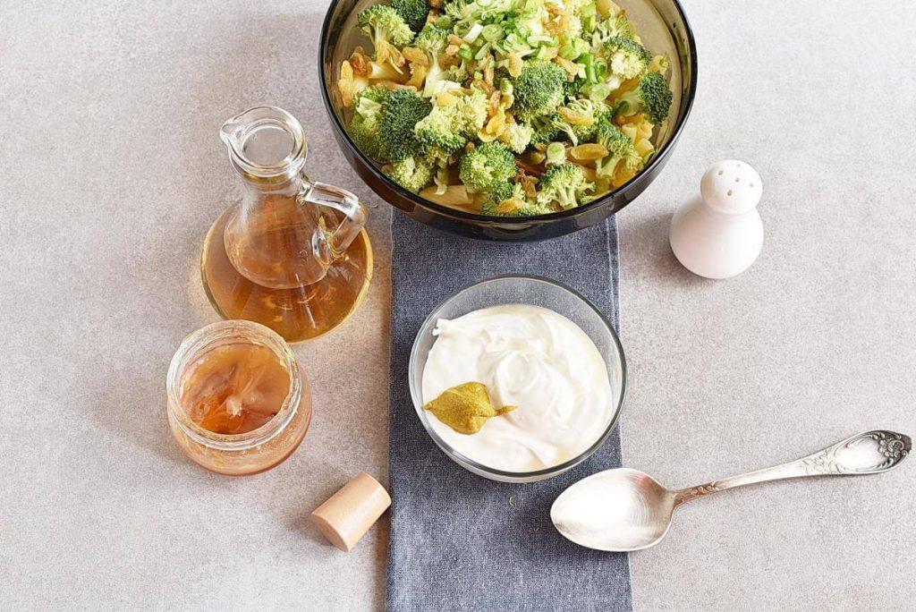 Meal-Prep Creamy Pasta Salad with Broccoli and Raisins recipe - step 3
