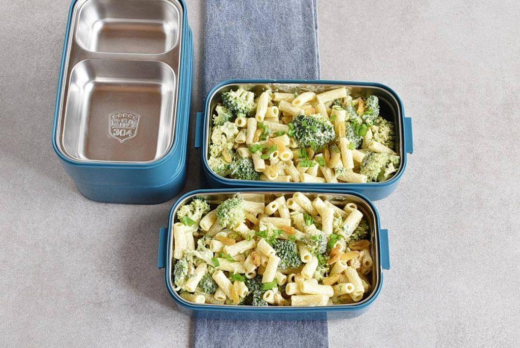 Meal-Prep Creamy Pasta Salad with Broccoli and Raisins recipe - step 5