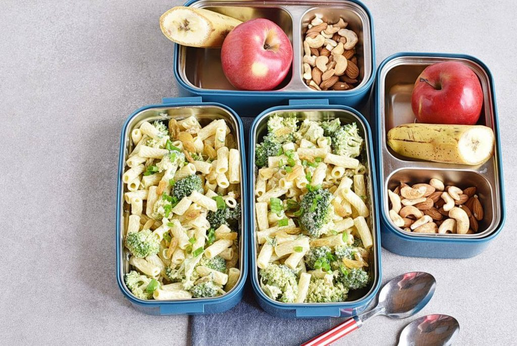 How to serve Meal-Prep Creamy Pasta Salad with Broccoli and Raisins