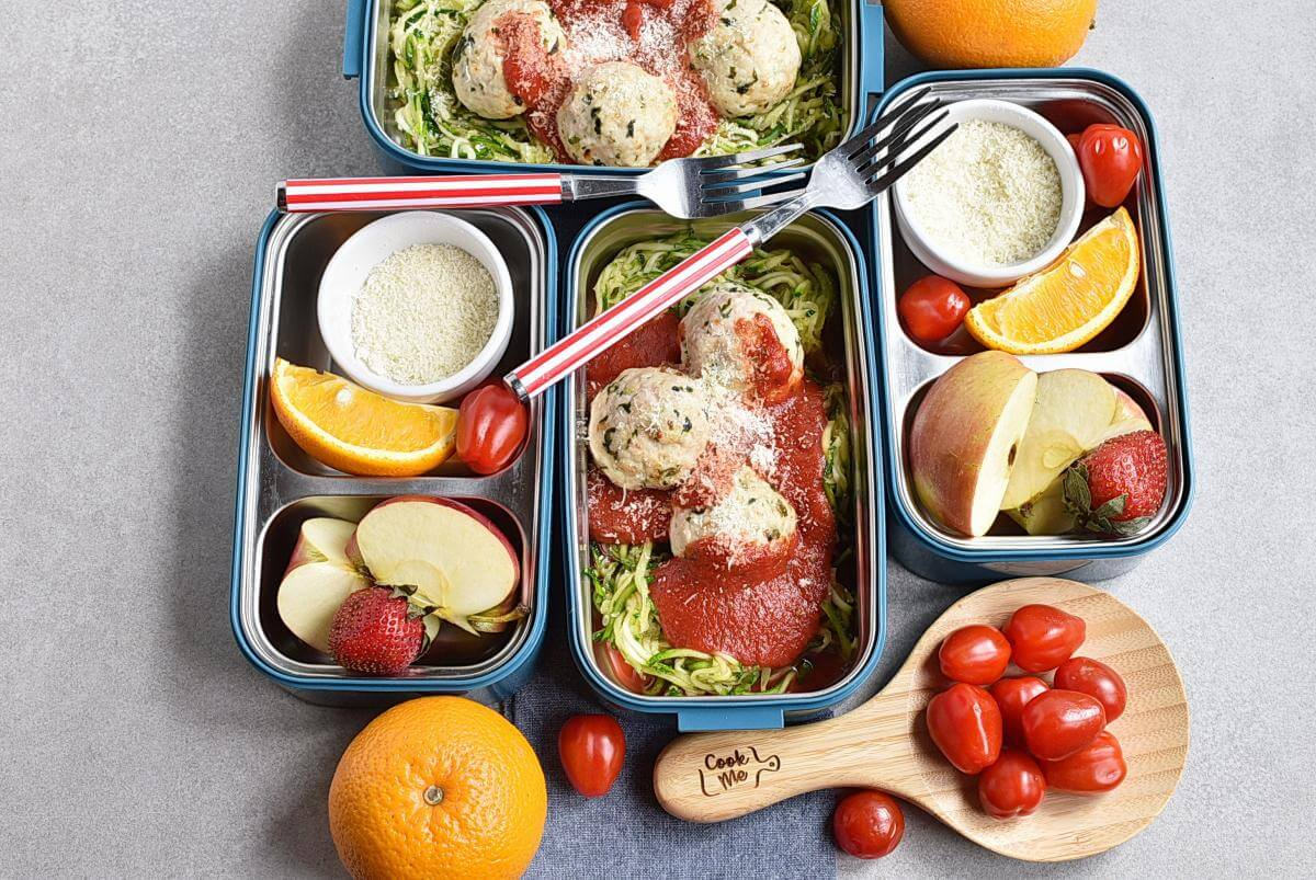 Meal-Prep Turkey Meatballs with Zoodles Recipes–Homemade Meal-Prep Turkey Meatballs with Zoodles –Easy Meal-Prep Turkey Meatballs with Zoodles