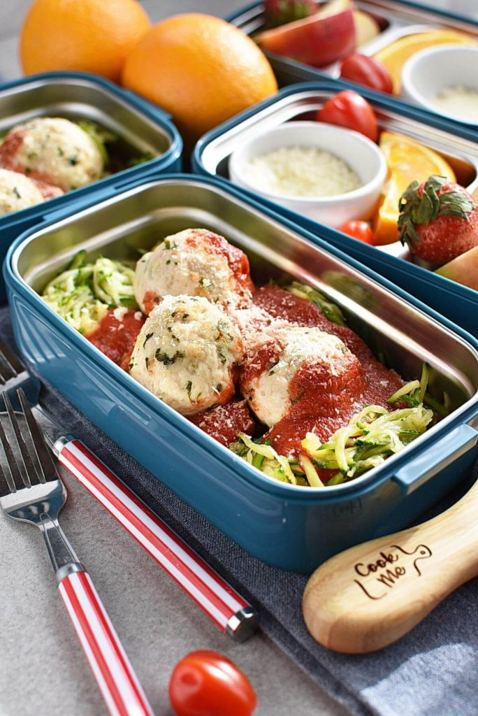 Meal-Prep Turkey Meatballs with Zoodles