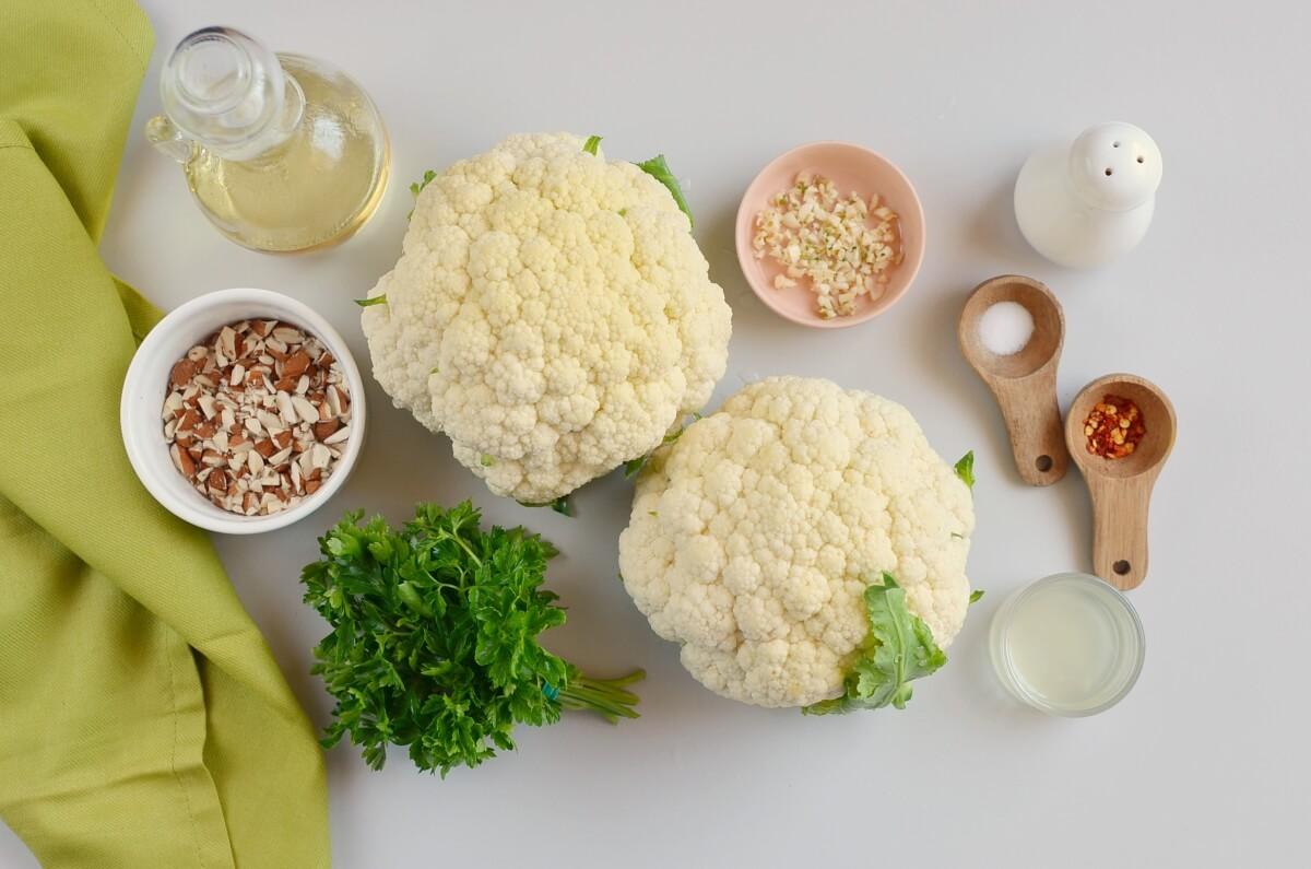 Ingridiens for Mediterranean Cauliflower Rice