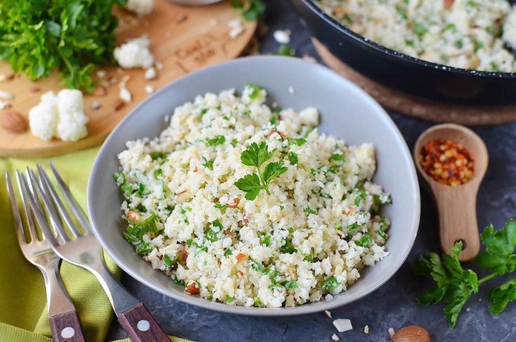 How to serve Mediterranean Cauliflower Rice