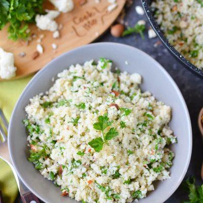 Mediterranean Cauliflower Rice Recipe-How To Make Mediterranean Cauliflower Rice-Delicious Mediterranean Cauliflower Rice