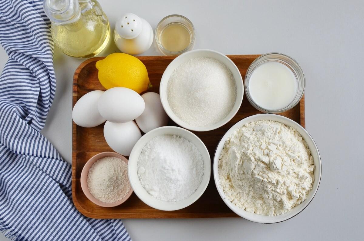 Ingridiens for Moroccan Lemon Cake (Meskouta)