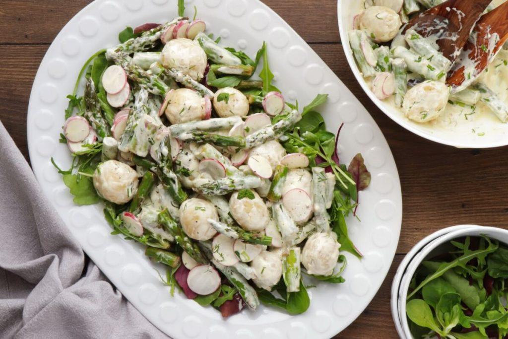 How to serve New Potato Salad with Asparagus