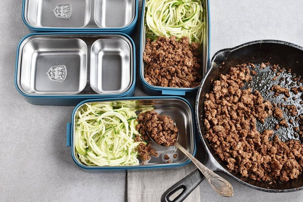 Sesame Ginger Beef Zucchini Noodles recipe - step 6