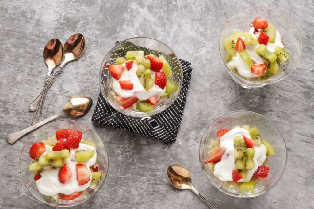 How to serve Strawberry Kiwi Quinoa Breakfast Parfait