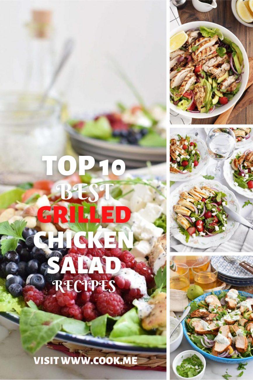TOP 10 Grilled Chicken Salad Recipes-Grilled Chicken Salads From Around The World10 Best Grilled Chicken Salad Recipes