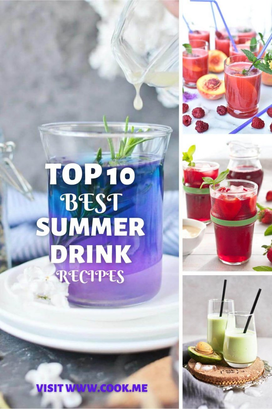 Top 10 Summer Drink Recipes-Easy Summer Cocktails - Best Refreshing Summer Drink