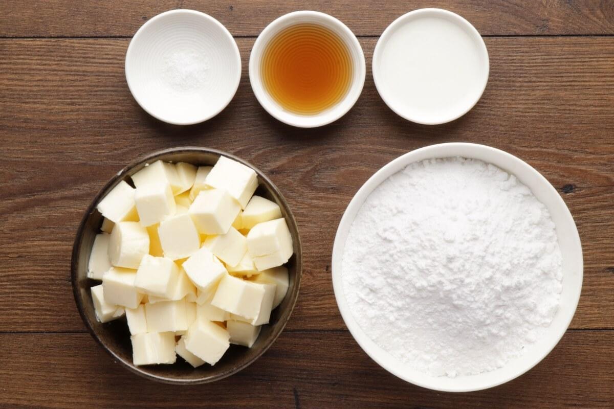 Ingridiens for Vanilla Buttercream Frosting