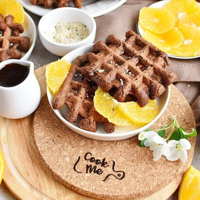 Vegan Chocolate Orange Waffles Recipes–Homemade Vegan Chocolate Orange Waffles–Easy Vegan Chocolate Orange Waffles